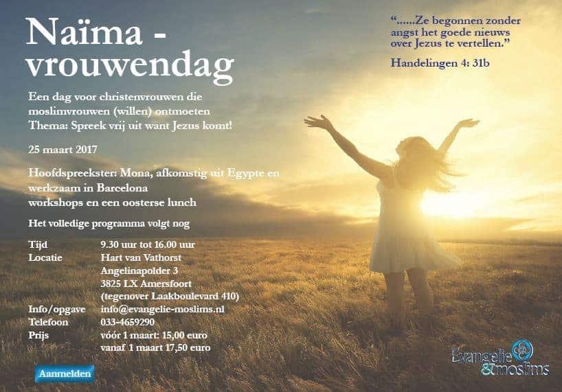 Naïma-Vrouwendag 'Spreek vrijuit