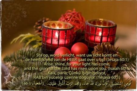 Kerstkaart Jesaja 60:1